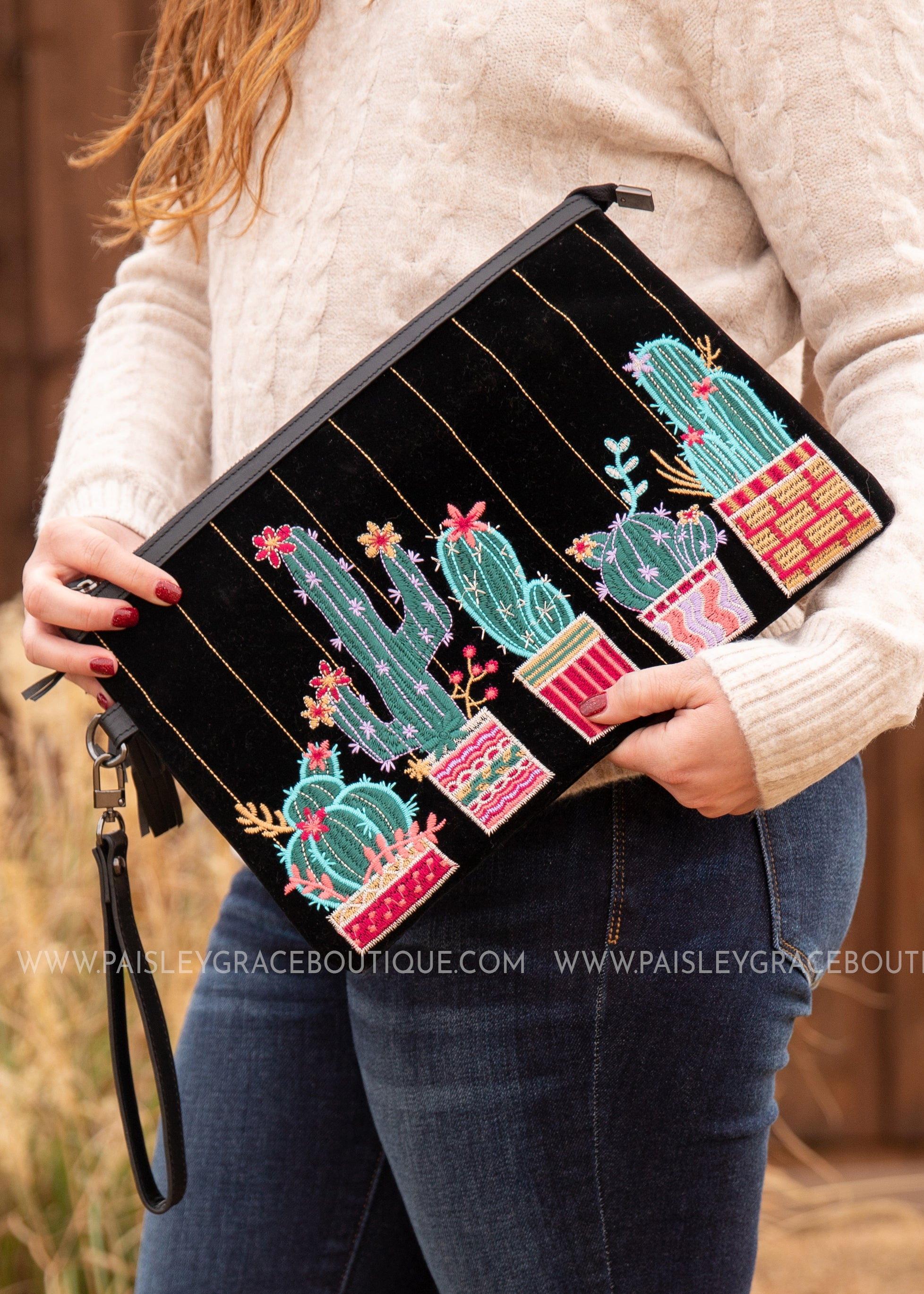 Sedona Embroidered Clutch