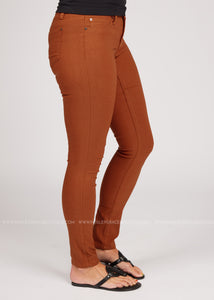 Tori Hyper Stretch Skinnies- ADOBE  - FINAL SALE