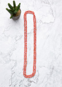 Fiery Shimmer Strand Necklace