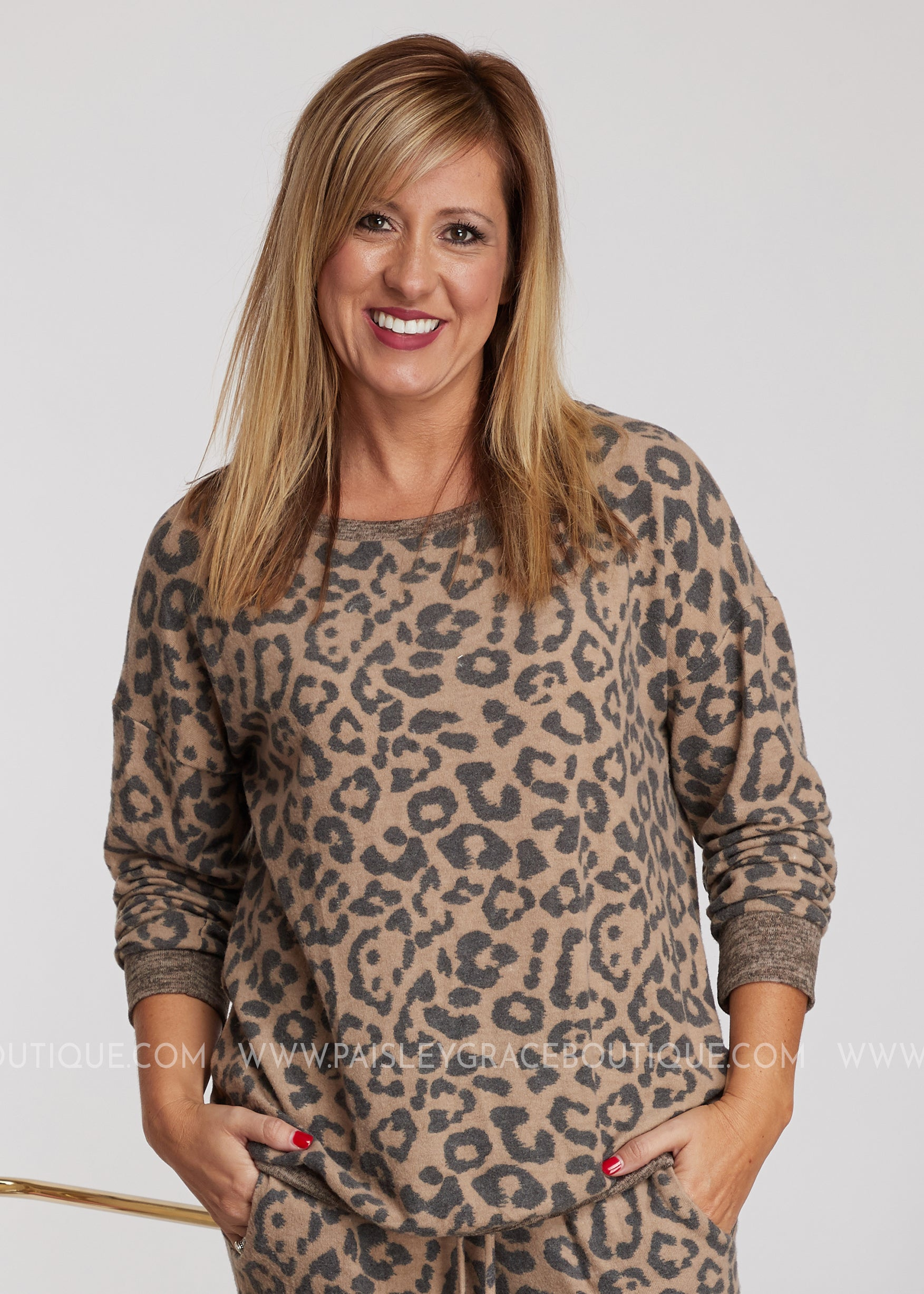 Leopard Luxe Loungewear- TOP