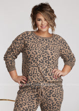 Load image into Gallery viewer, Leopard Luxe Loungewear- TOP-RESTOCK