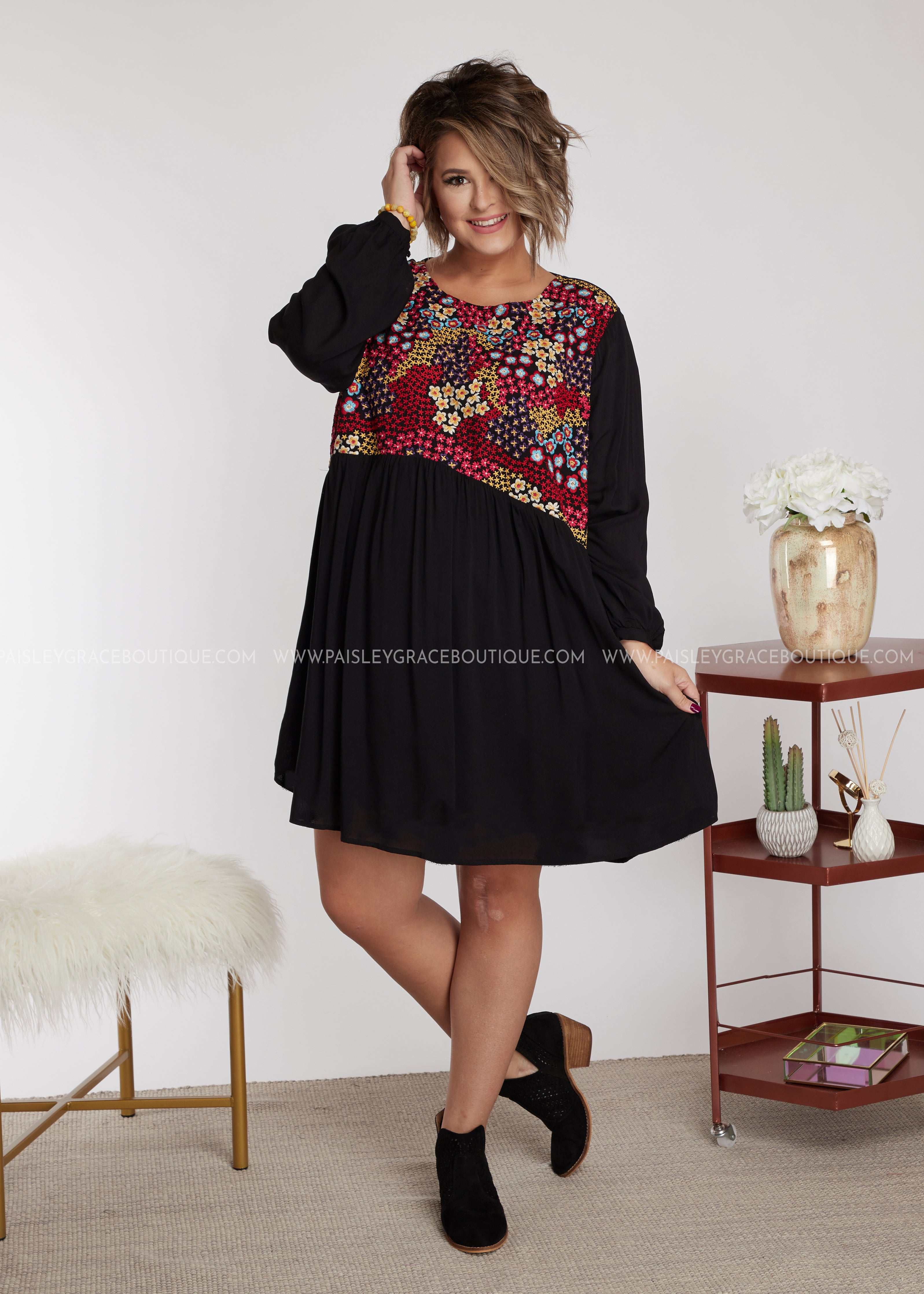 Jezebell Embroidered Dress - FINAL SALE