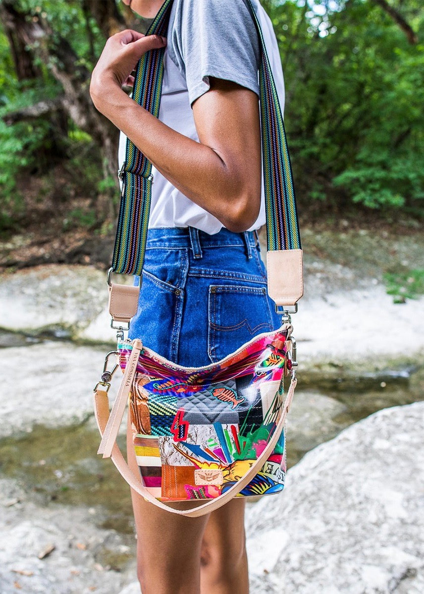 Wedge Bag- Patches By Consuela