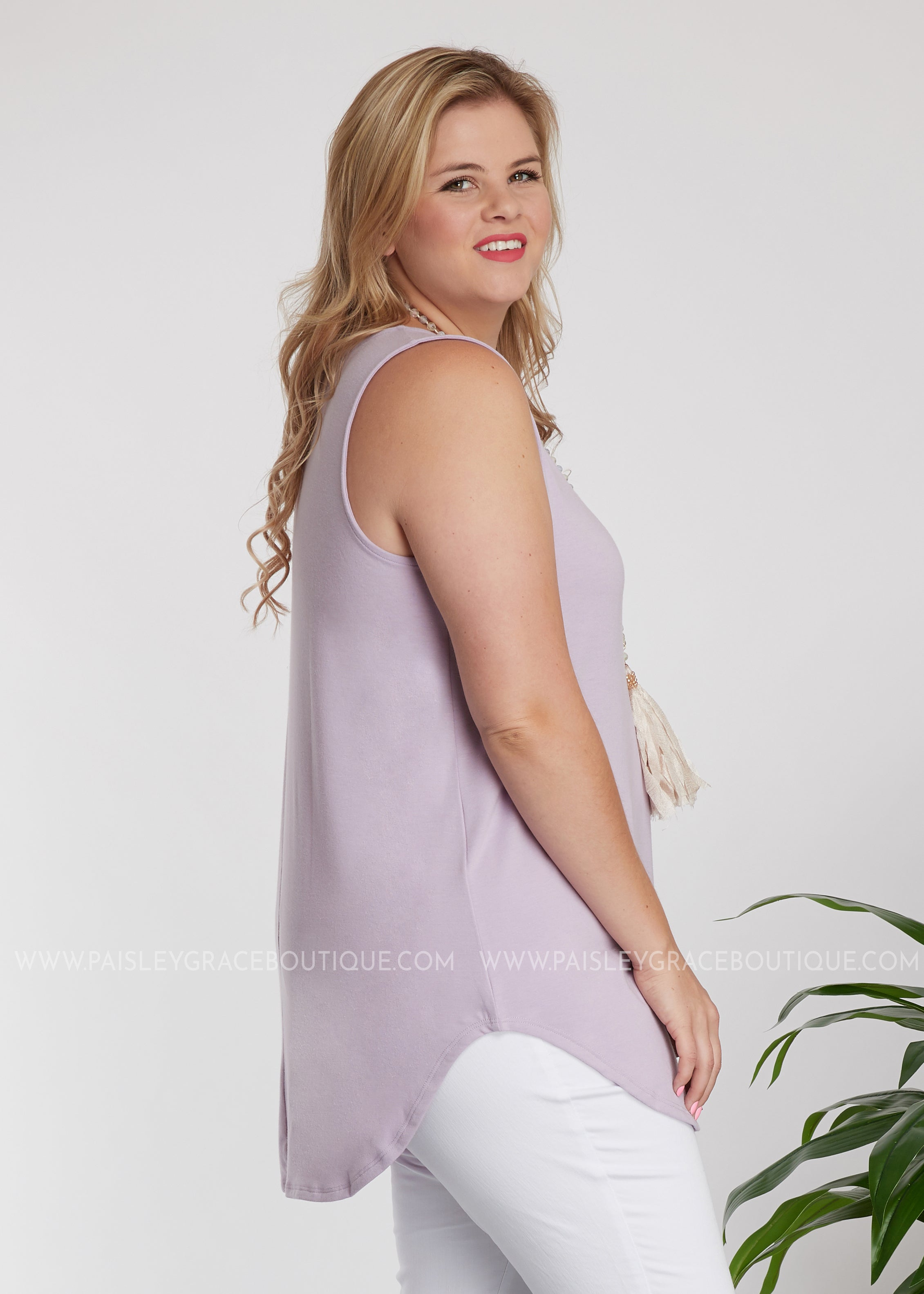 The Ruby Tank- LAVENDER - FINAL SALE