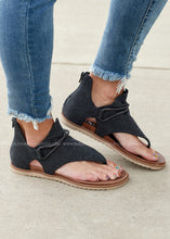 Load image into Gallery viewer, Sparta Sandal-BLACK  - FINAL SALE
