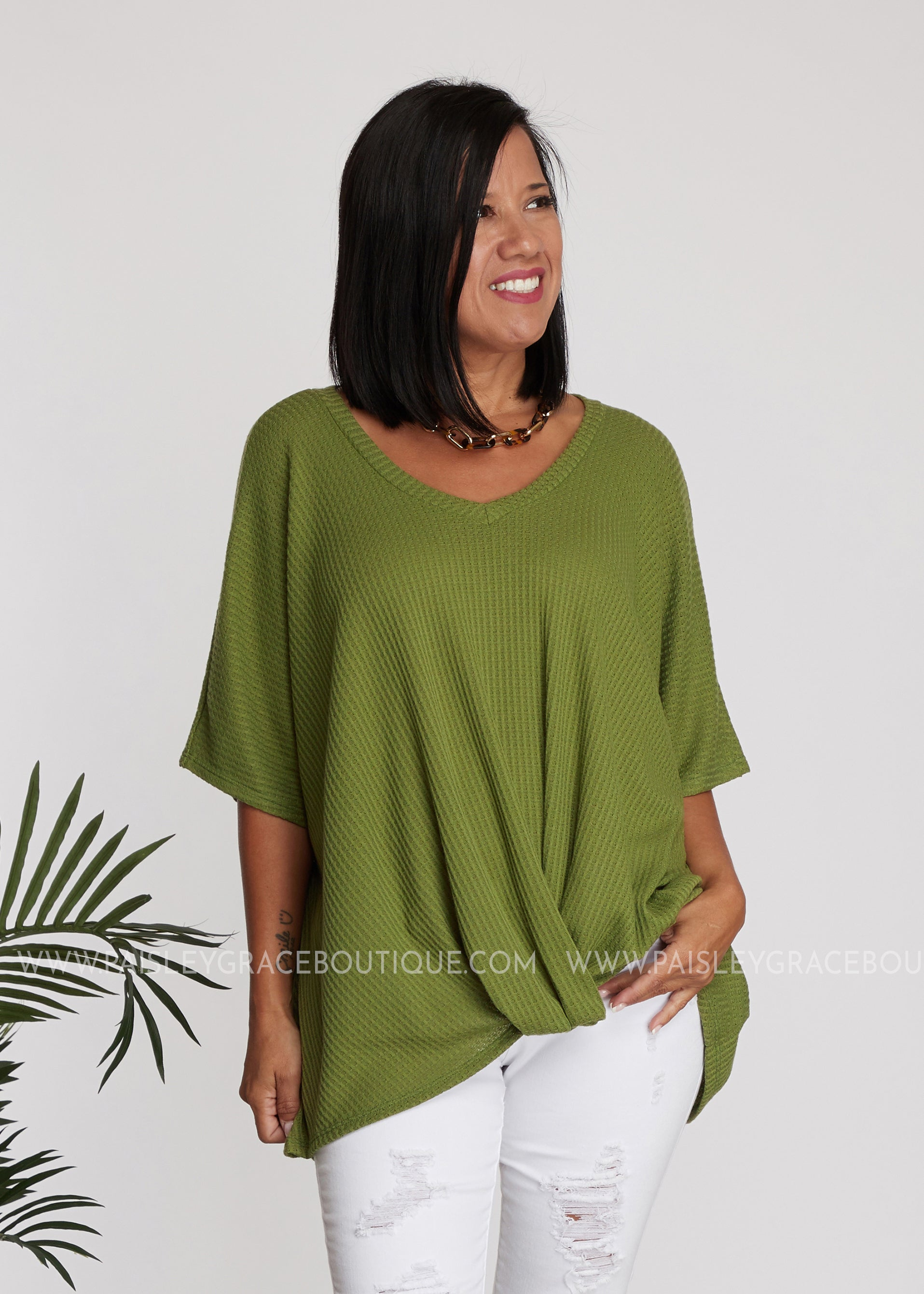 Invitation Only Top- OLIVE
