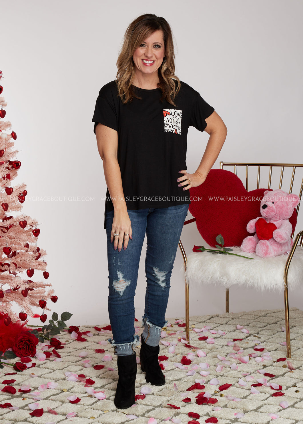 Love Letters Top-BLACK - FINAL SALE
