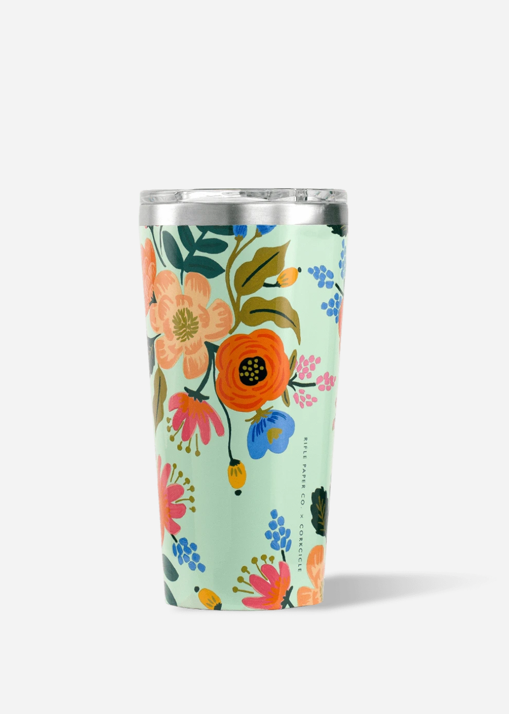 Lively Floral Mint Tumbler-16 oz. By Corkcicle