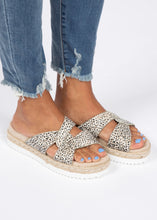Load image into Gallery viewer, Hannah Platform Slide-Cheetah  - FINAL SALE