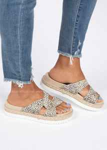 Hannah Platform Slide-Cheetah  - FINAL SALE
