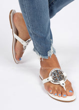 Load image into Gallery viewer, Margaux Sandal- WHITE  - FINAL SALE
