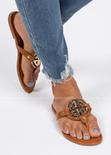 Load image into Gallery viewer, Margaux Sandal- COGNAC  - FINAL SALE