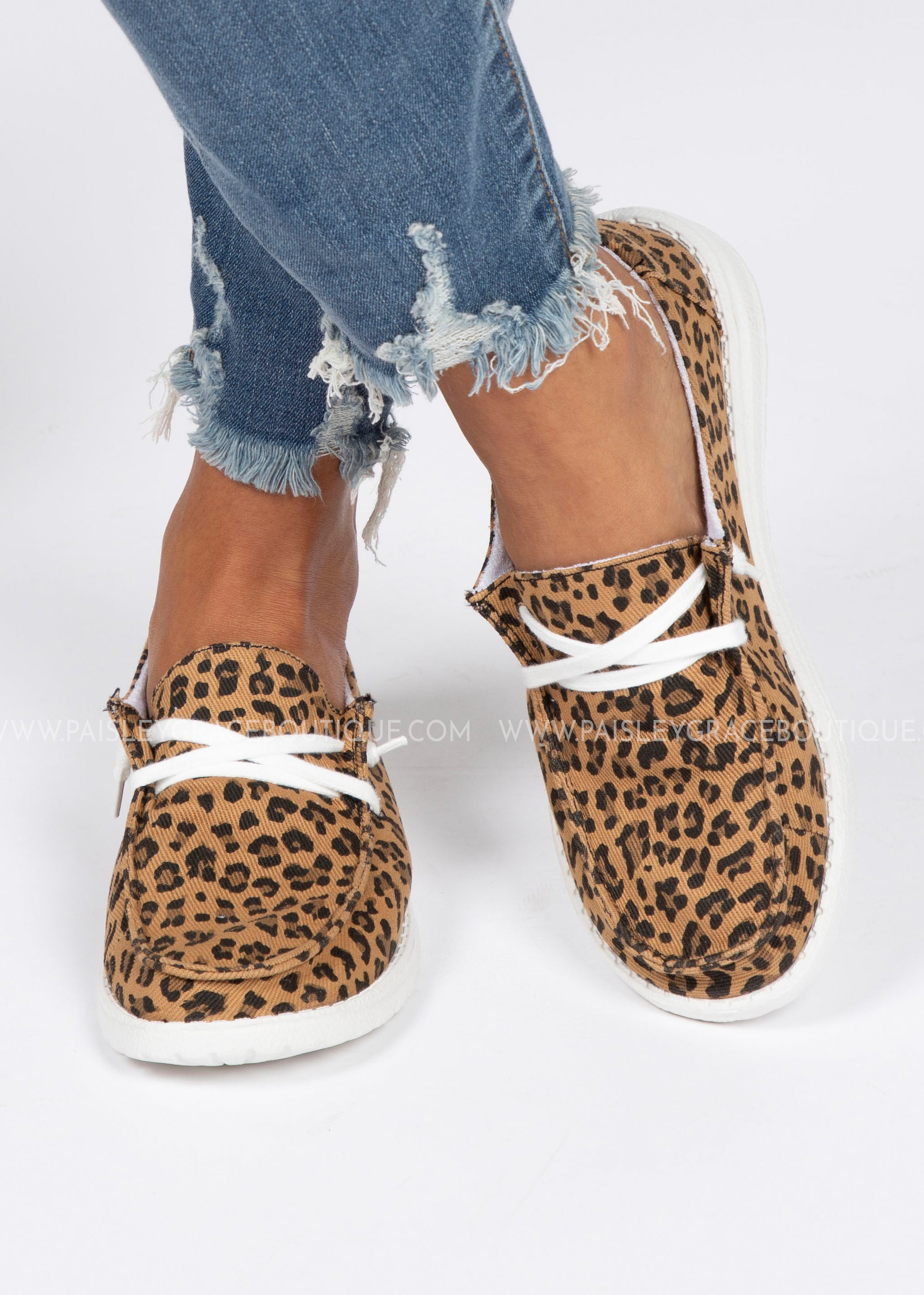 Holly Slip-On Sneaker-Cognac Leopard