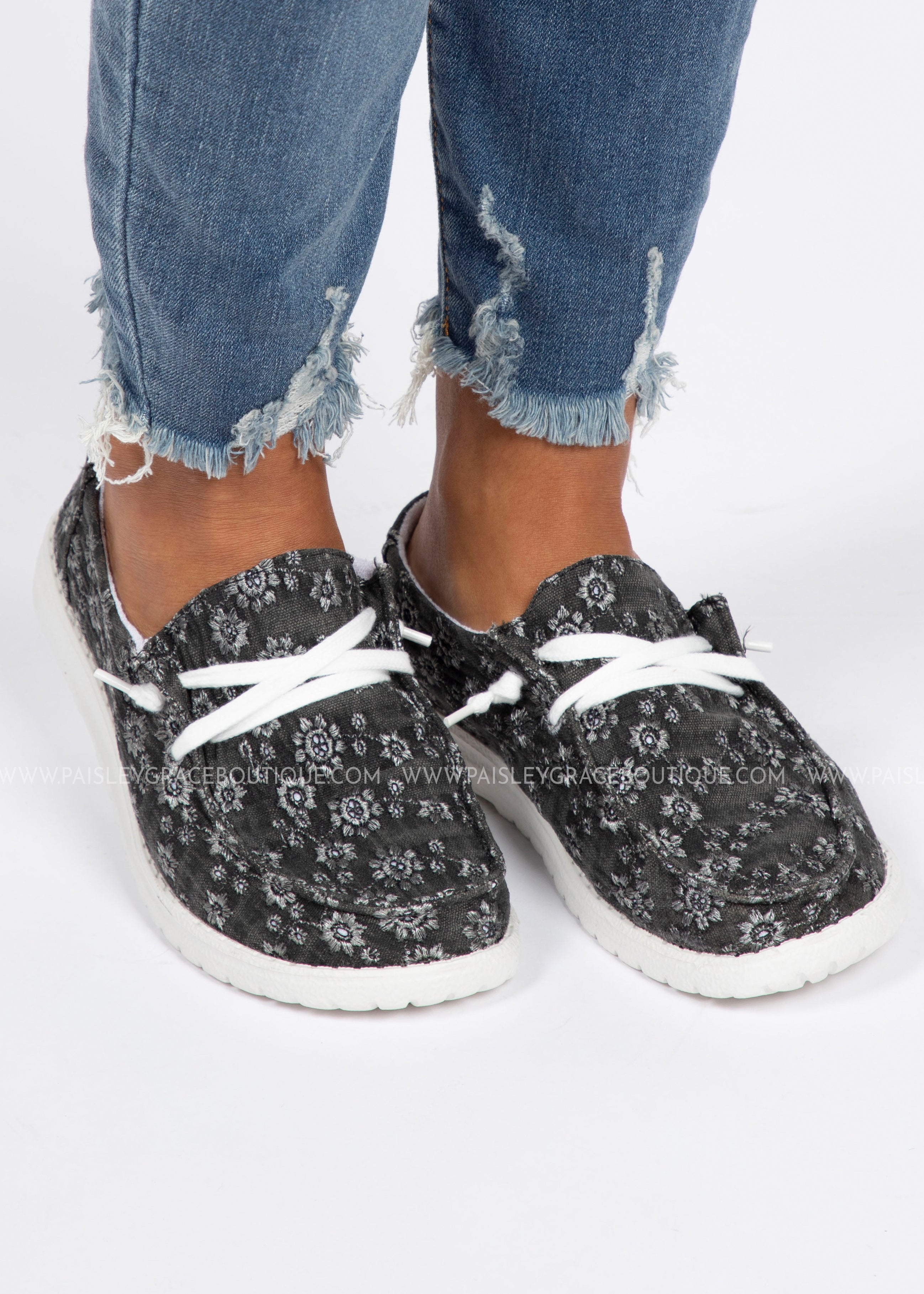 Holly Slip-On Sneaker-Black Floral
