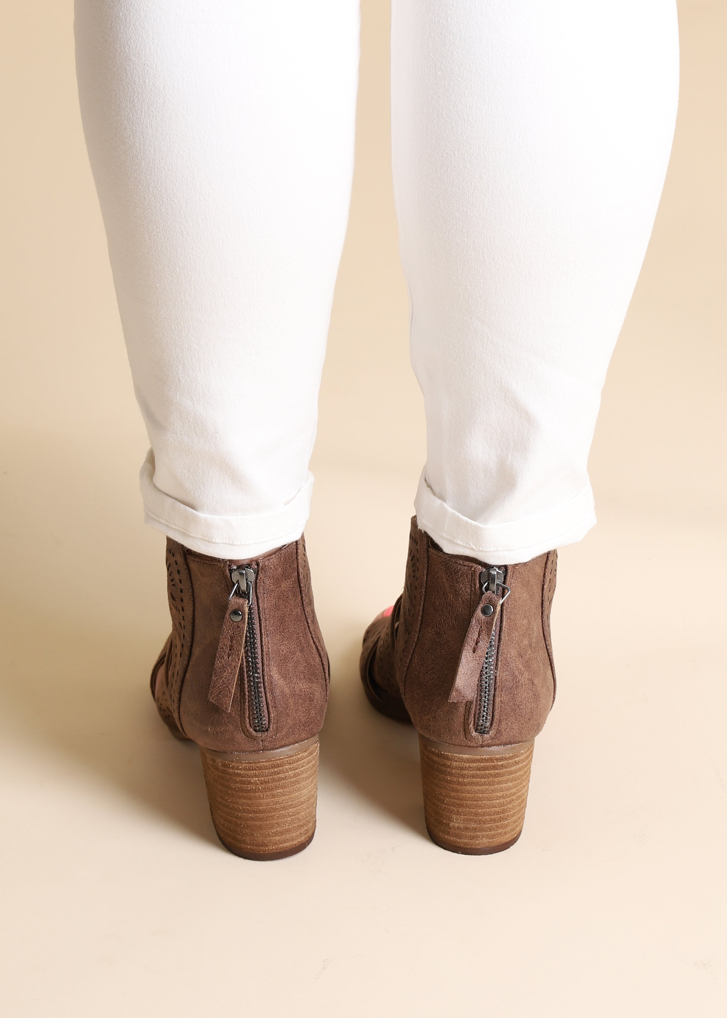 Silhouette Bootie - BROWN FINAL SALE