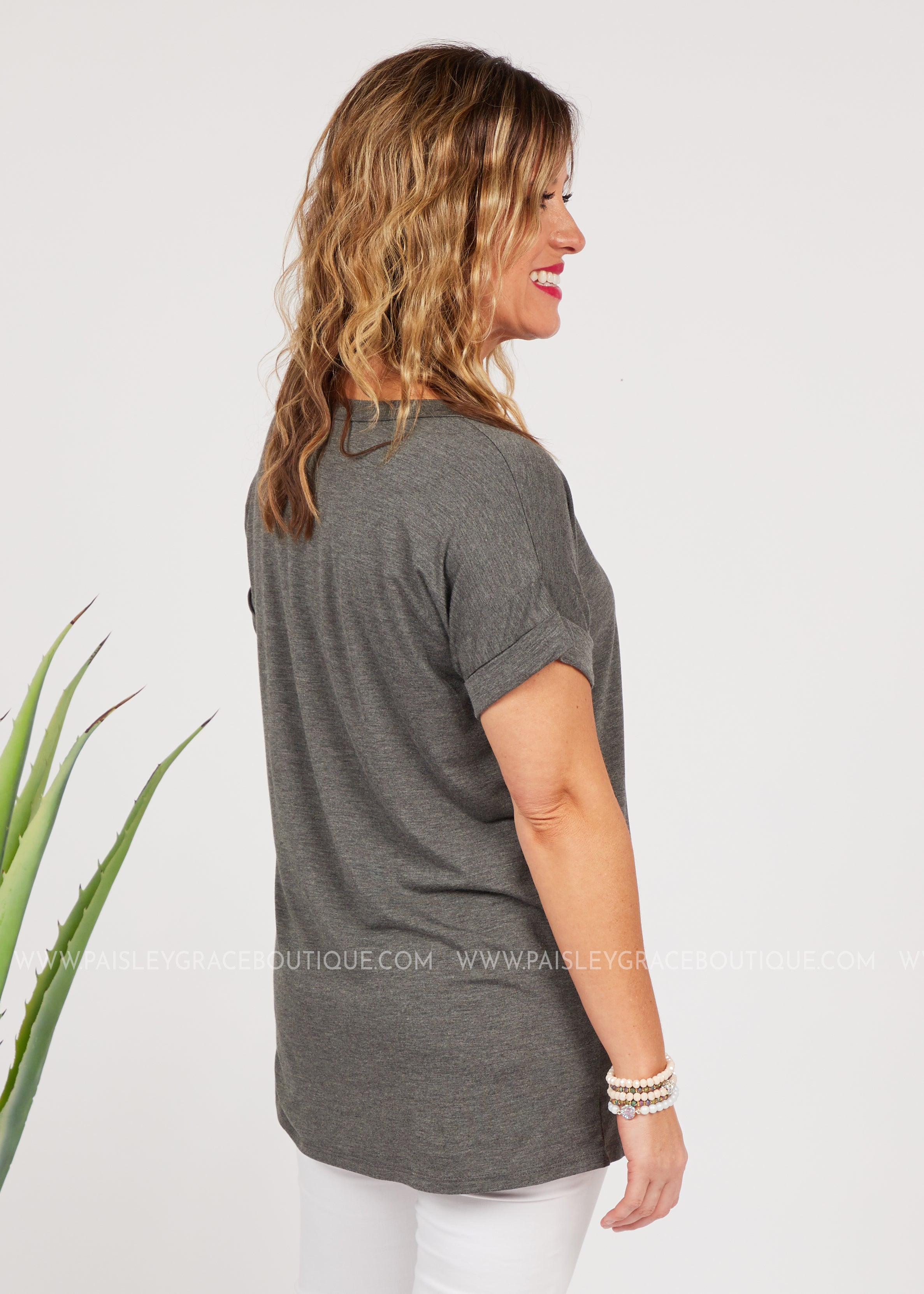 Basic Needs Tee-GREY-RESTOCK