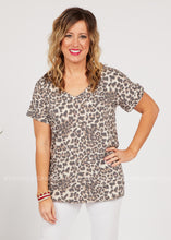 Load image into Gallery viewer, Basic Needs Tee-LEOPARD  - FINAL SALE