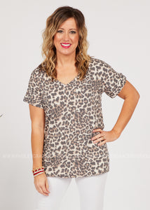 Basic Needs Tee-LEOPARD  - FINAL SALE