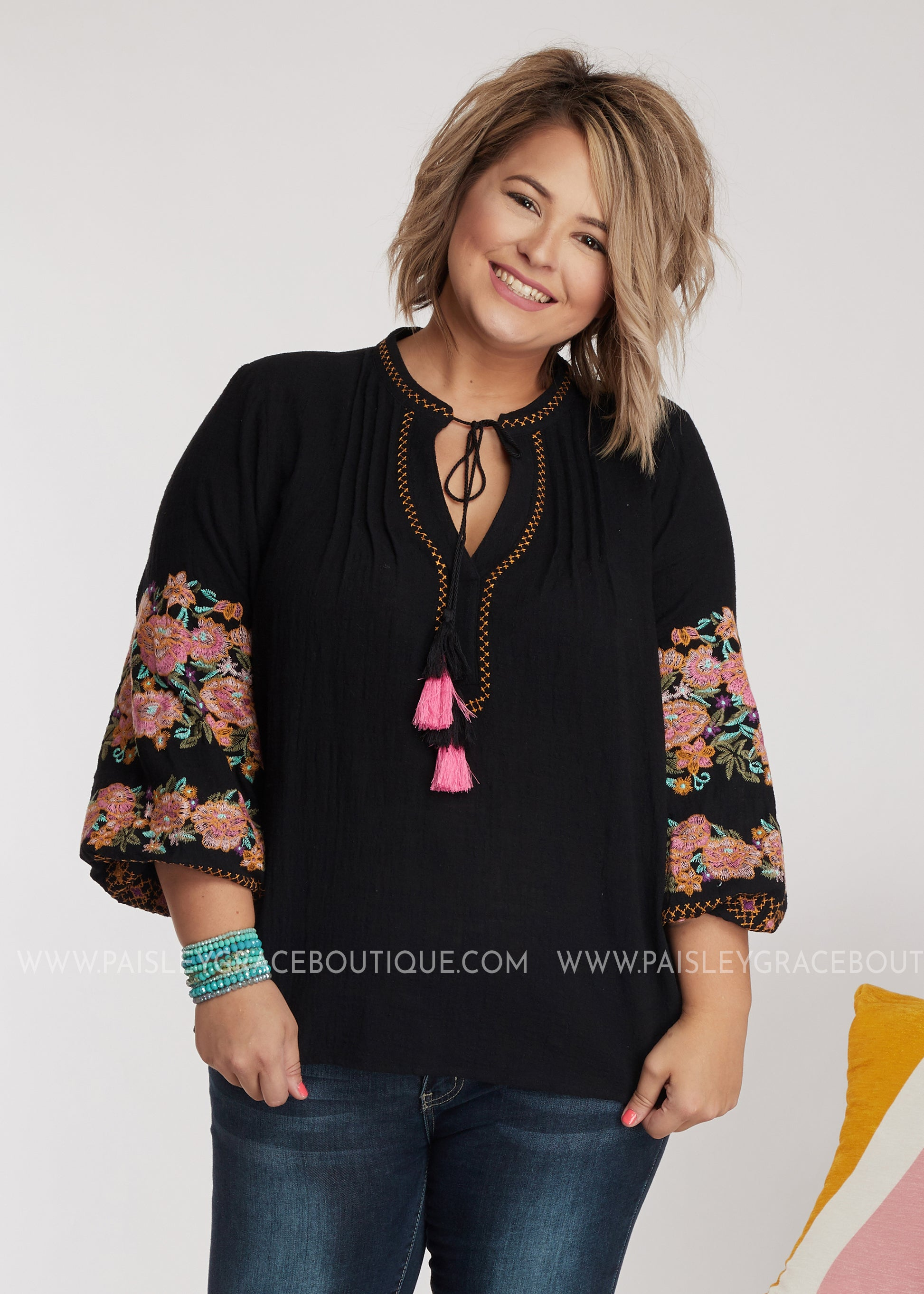 Josephine Embroidered Top
