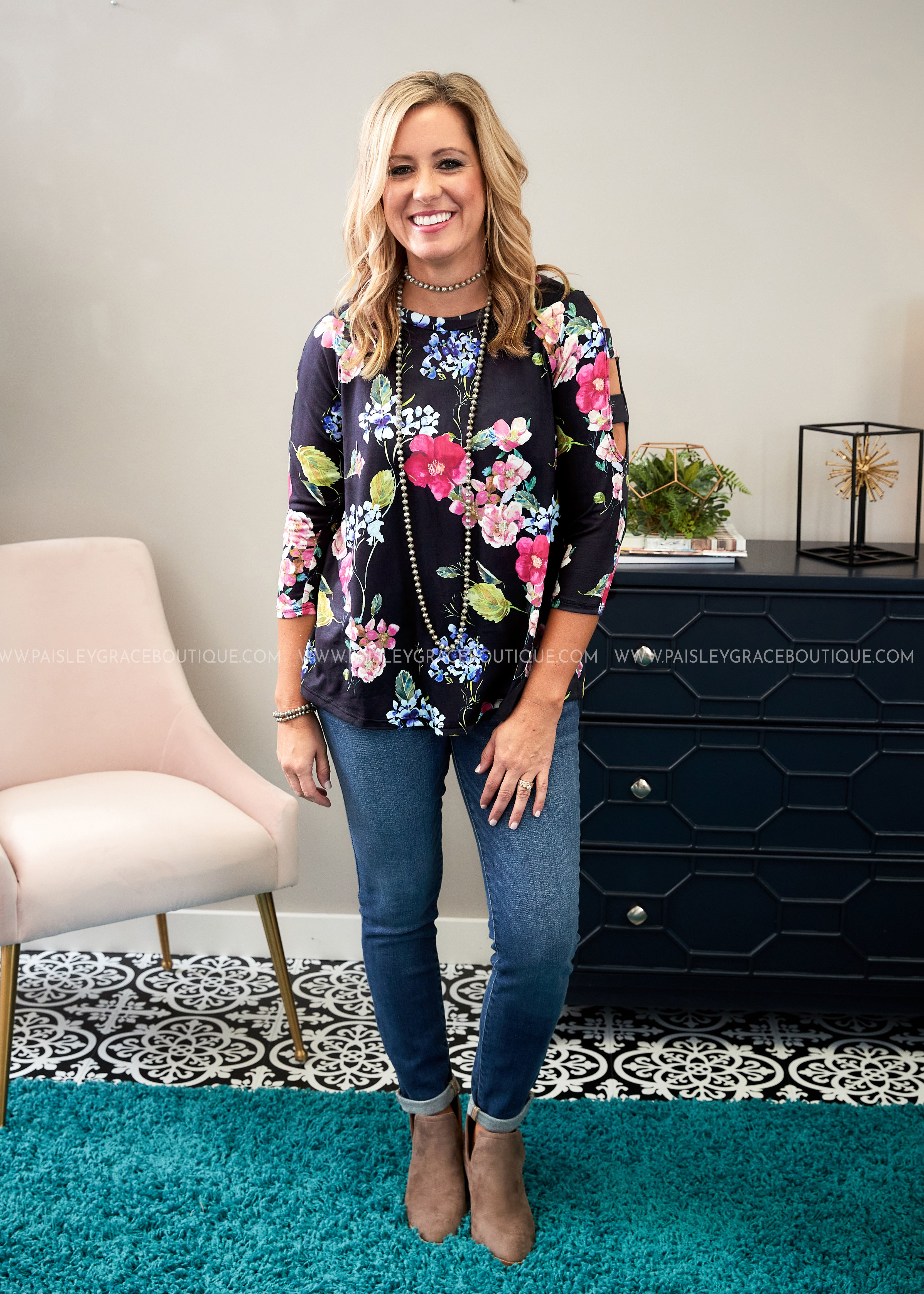 Gracefully Floral Top