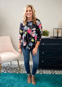 Gracefully Floral Top  - FINAL SALE
