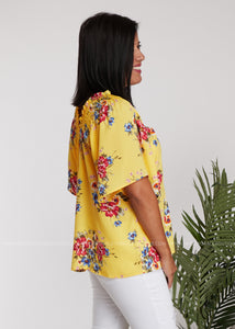 Penney Lane Top- Yellow - FINAL SALE