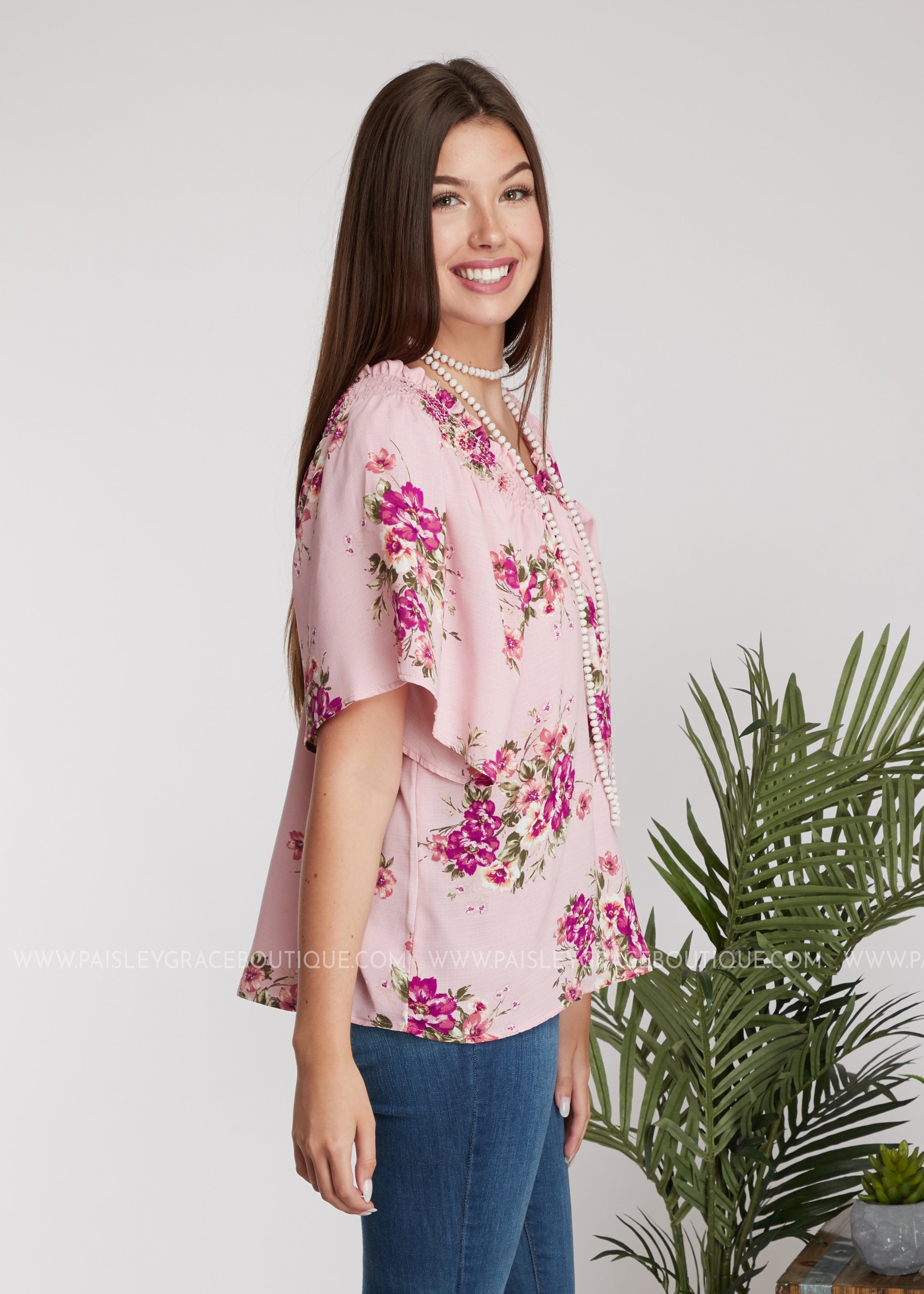 Penney Lane Top- Pink - FINAL SALE