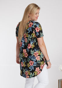 Shady Palms Top - FINAL SALE
