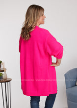 Load image into Gallery viewer, Charleigh Cardigan-HOT PINK