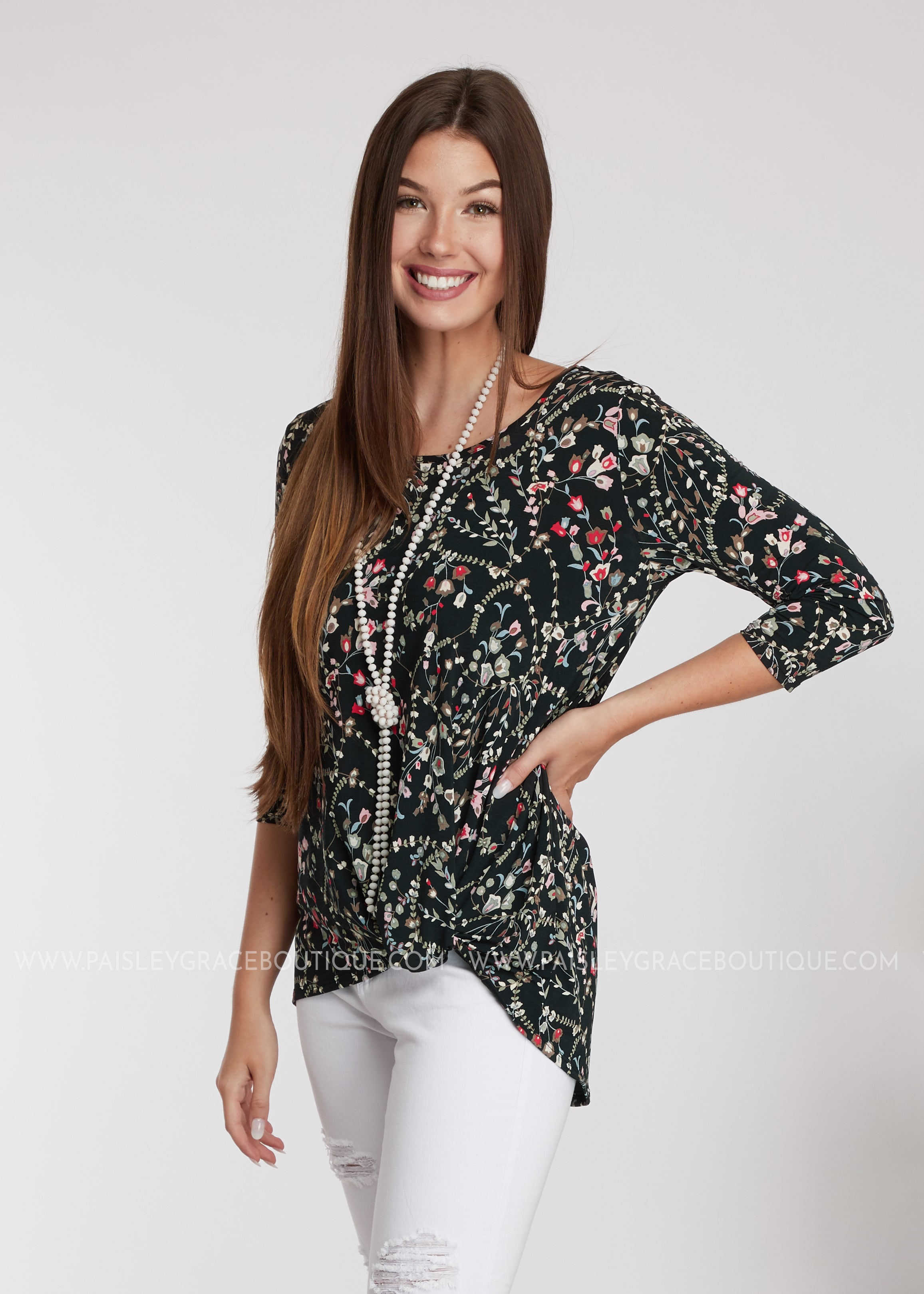 Trellis Flowers Top