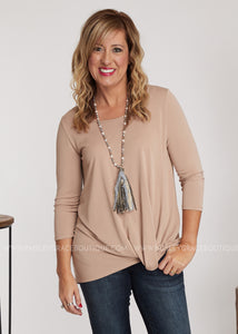 Knot So Basic Top-TAUPE