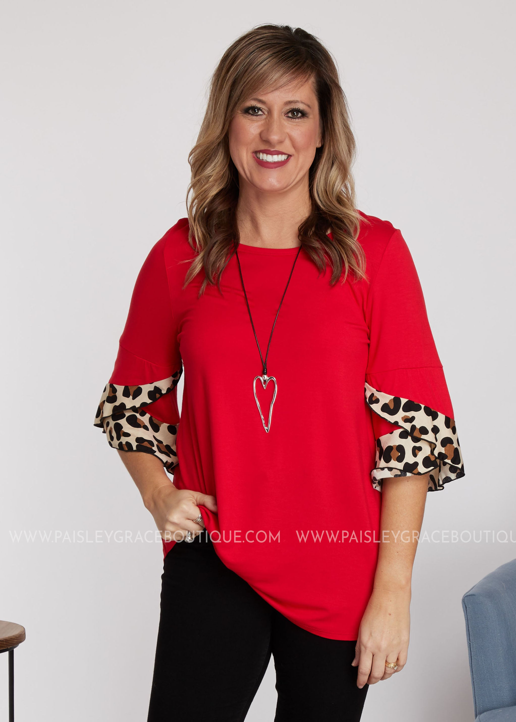 Modern Love Top- RED