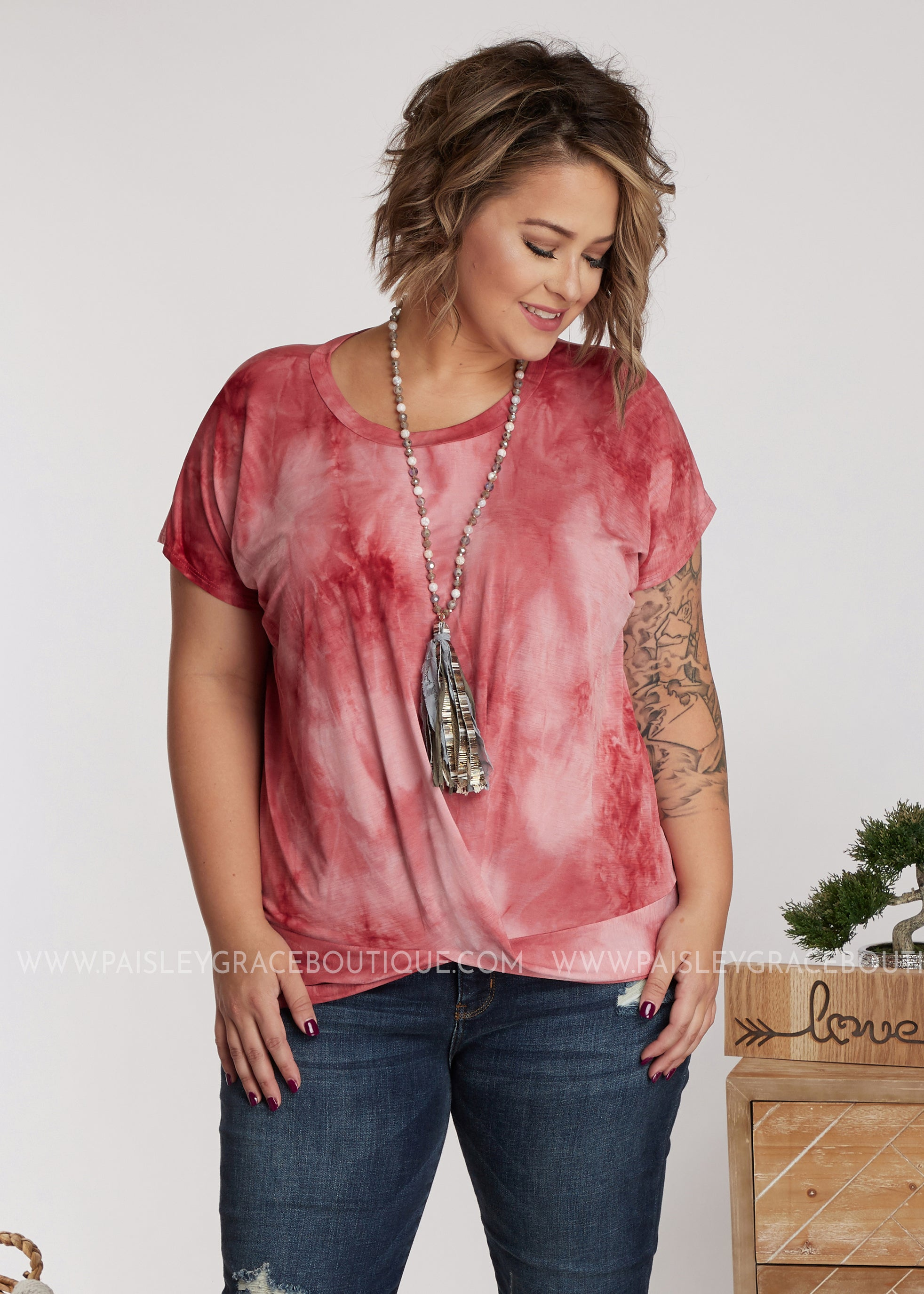Like It Or Knot Top-WINE