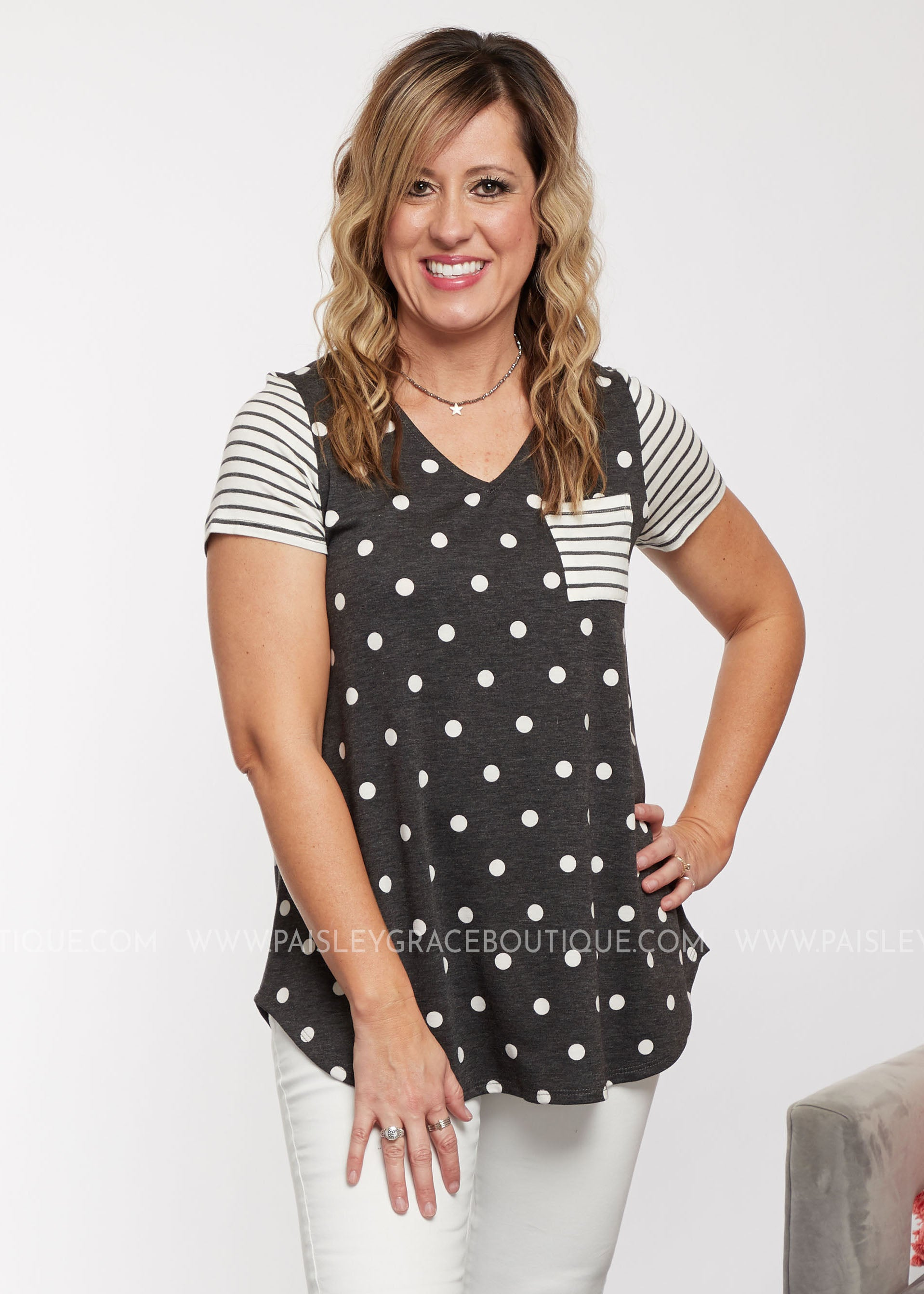 Seeking Casual Top-POLKA DOT