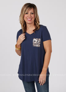 Live In The Moment Top-NAVY
