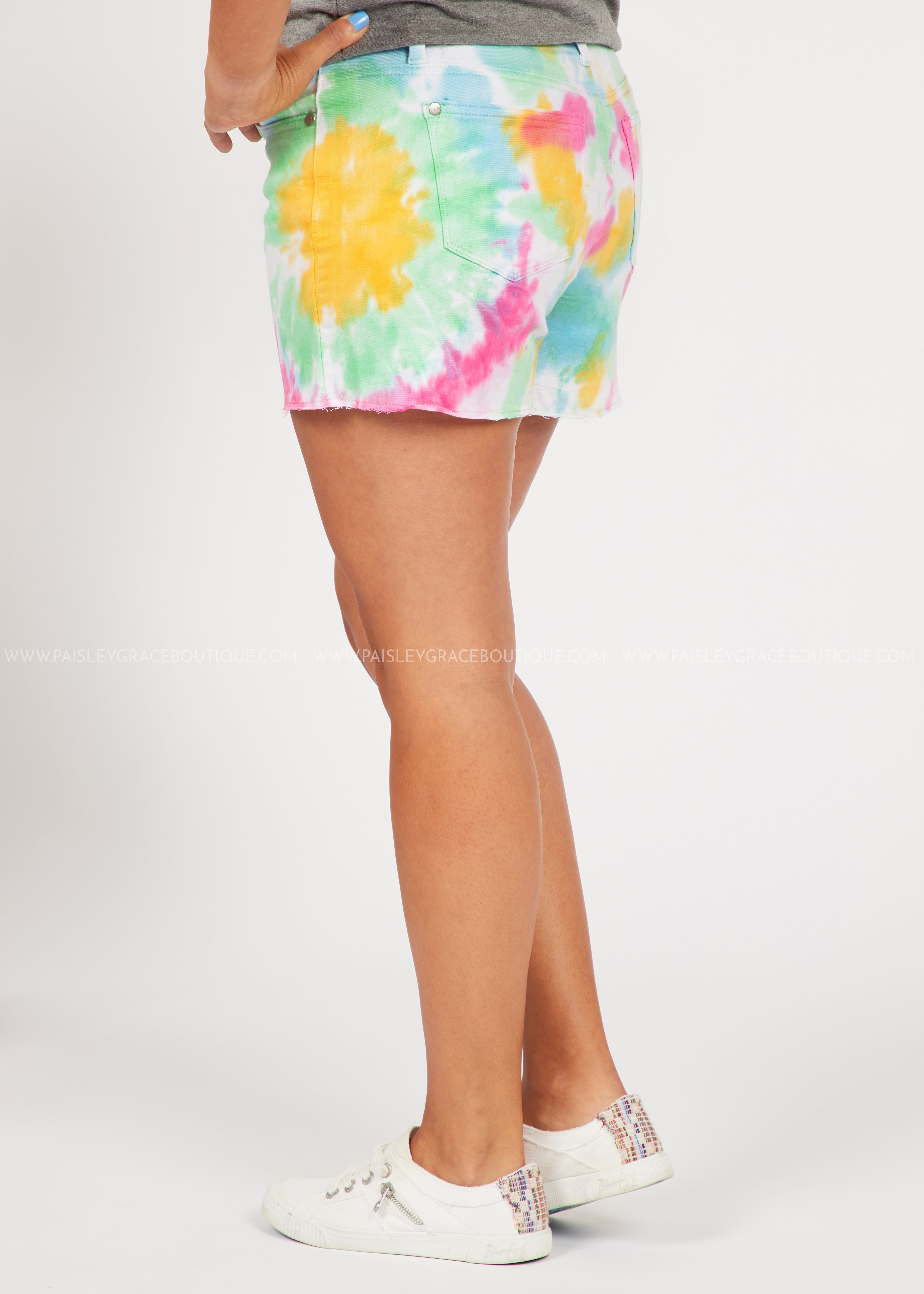 Rainbow Tie-Dye Shorts  - FINAL SALE