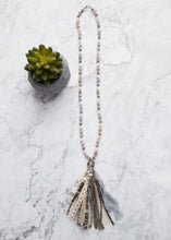 Load image into Gallery viewer, Grey Skies Tassel Necklace