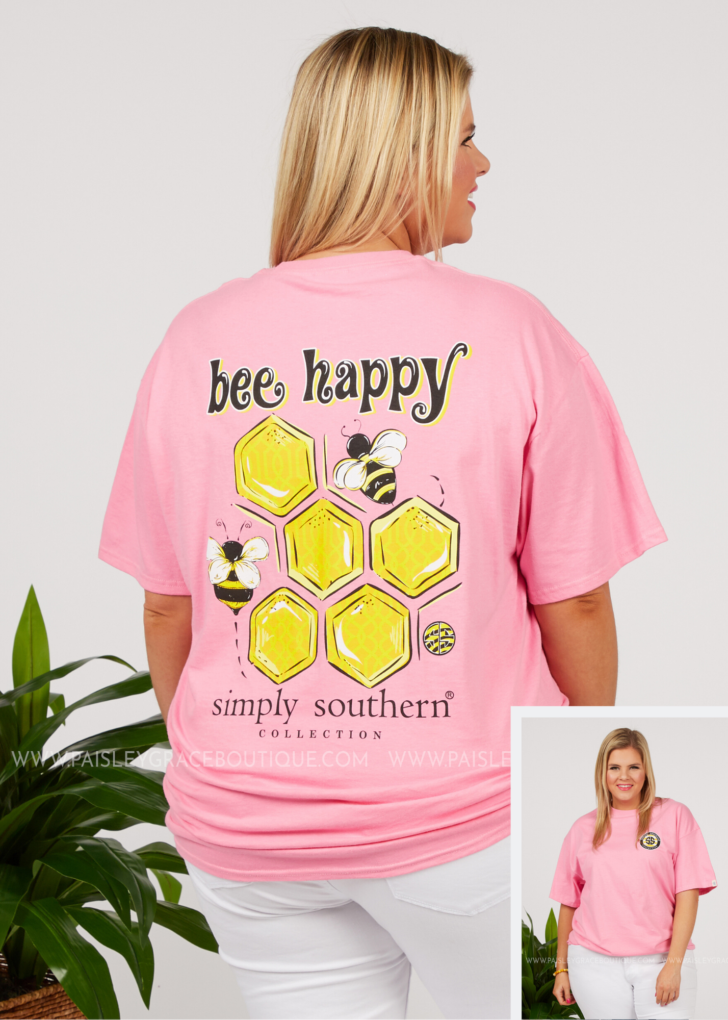 Bee Happy Tee by Simply Southern