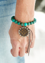 Load image into Gallery viewer, Upcycled  Turquoise Stone Bracelet