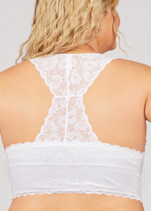 Margo Racerback Bralette- WHITE  - FINAL SALE