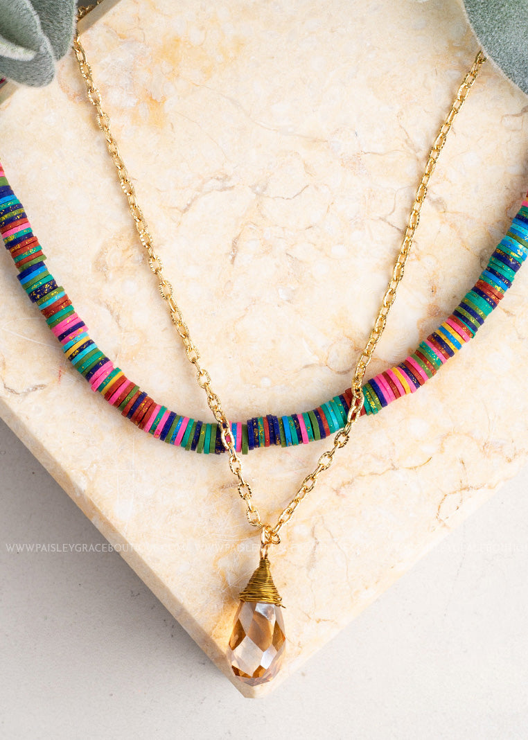 Drops Of Summer Layered Necklace