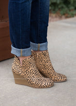 Load image into Gallery viewer, Josey Wedge Booties-LEOPARD - FINAL SALE