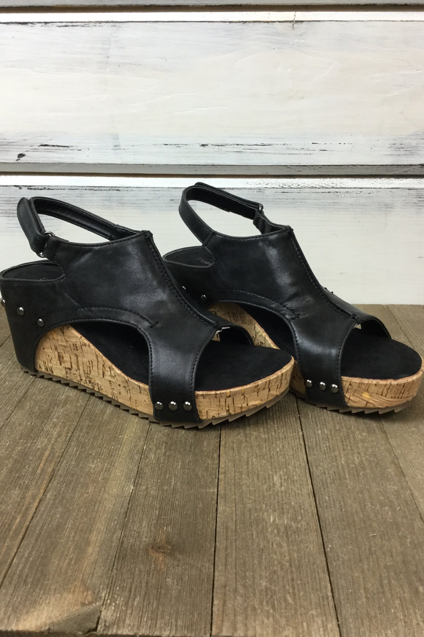 Giselle Wedge Sandal - Black