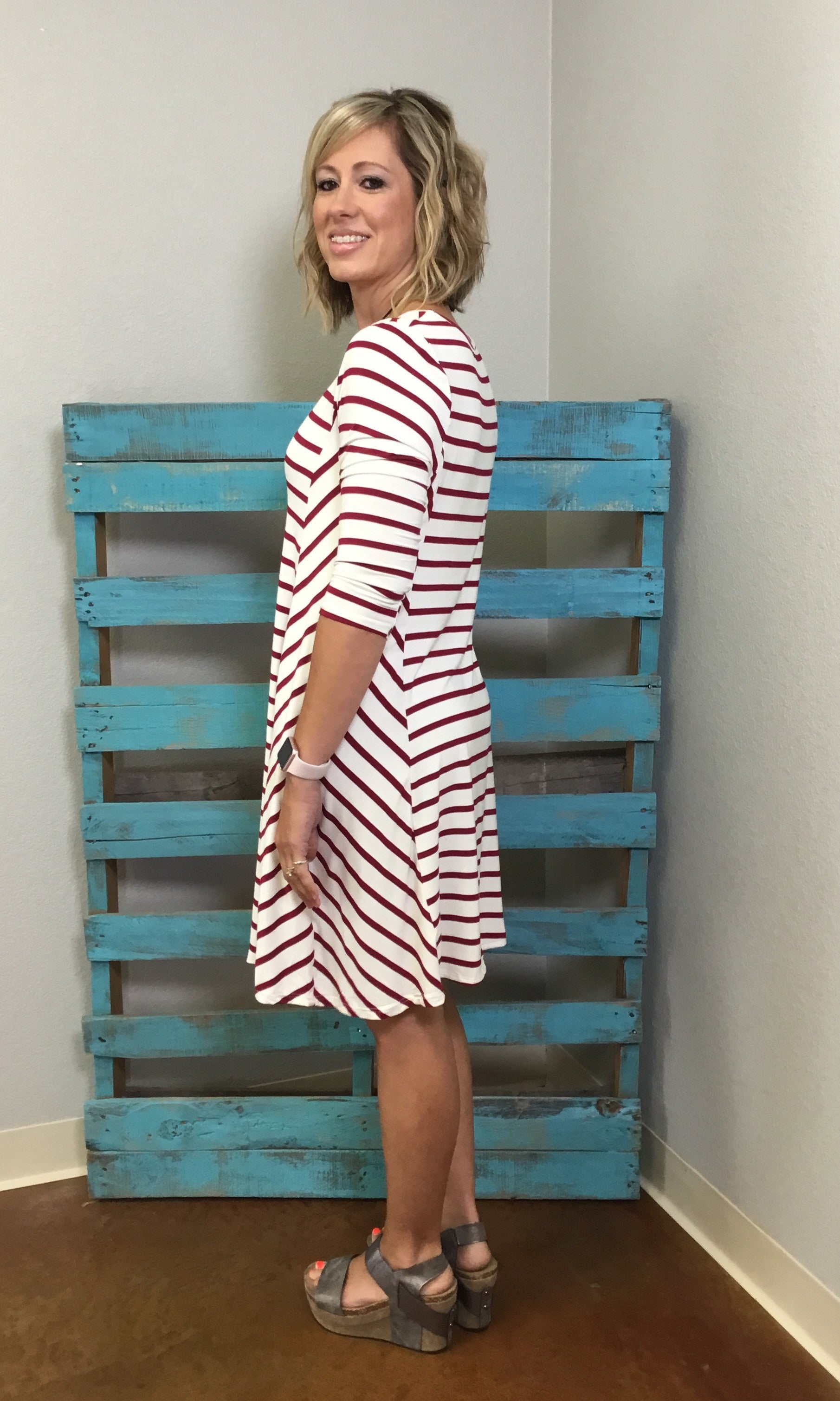 Stripe A Pose - Wine/Ivory