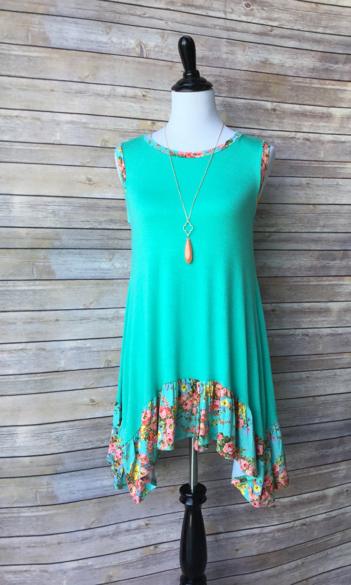 Jade Rose Sleeveless Tunic