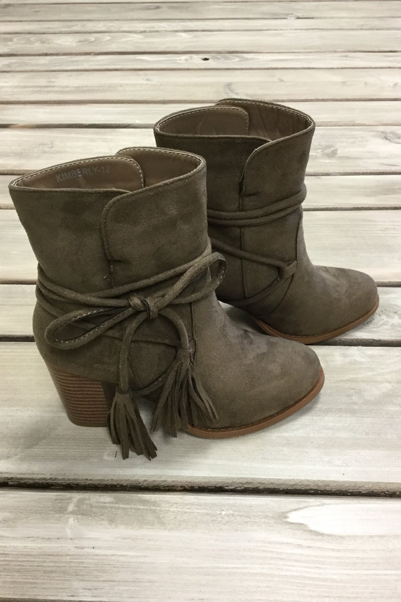 Kimberly Booties - Taupe