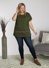 Load image into Gallery viewer, Skylar Top- OLIVE - FINAL SALE