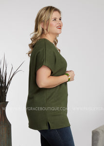 Skylar Top- OLIVE - FINAL SALE
