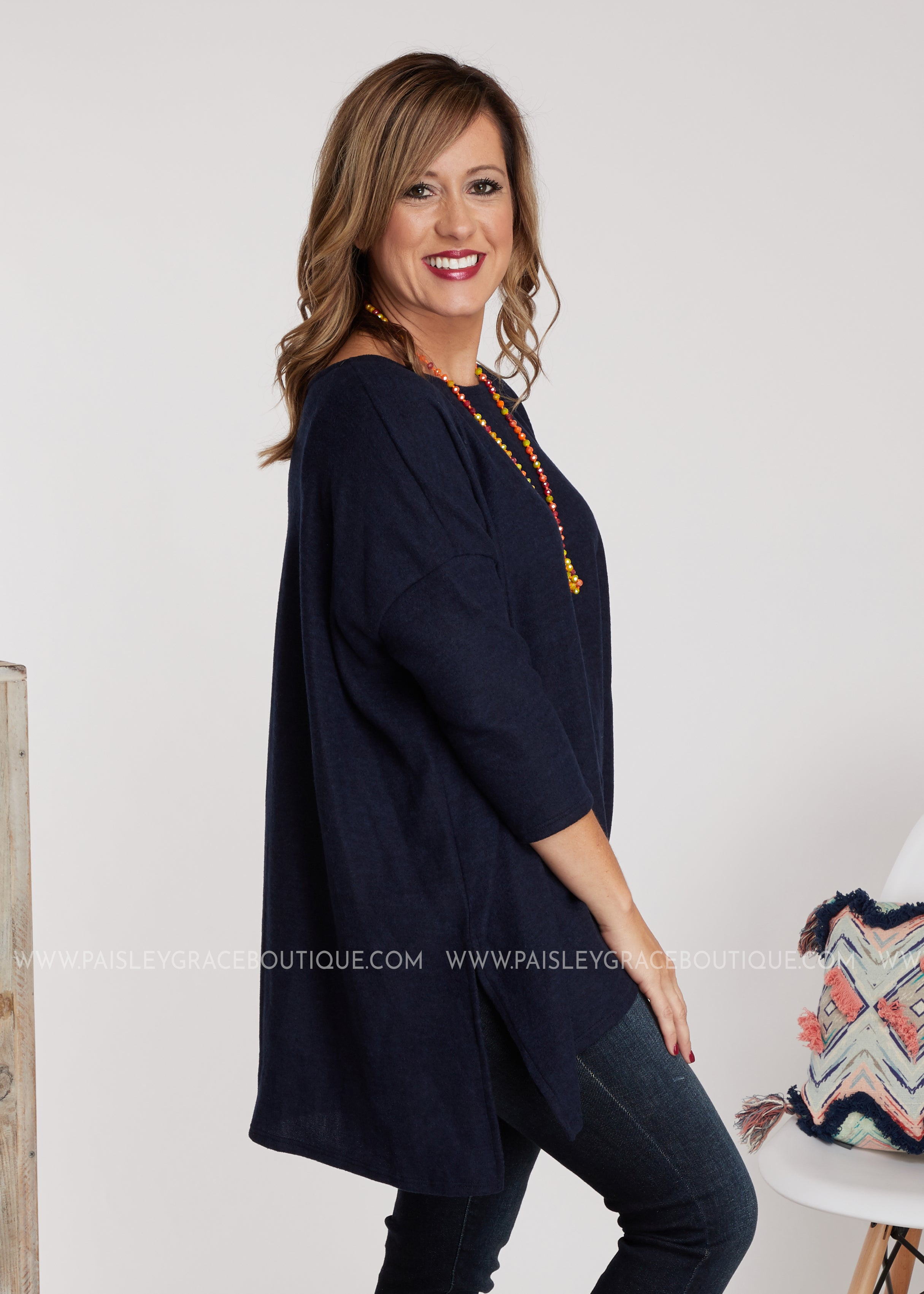 Larissa Top-NAVY