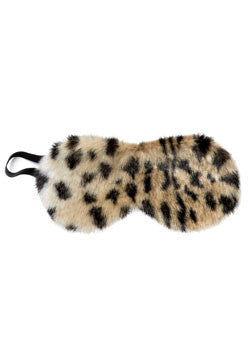 Fur Eye Mask - Leopard